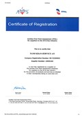 Archilles FPAL, Cert. of Registration